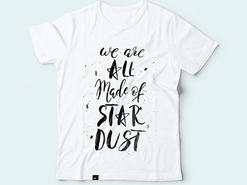 Футболка с надписью  «We are All made of stardust»