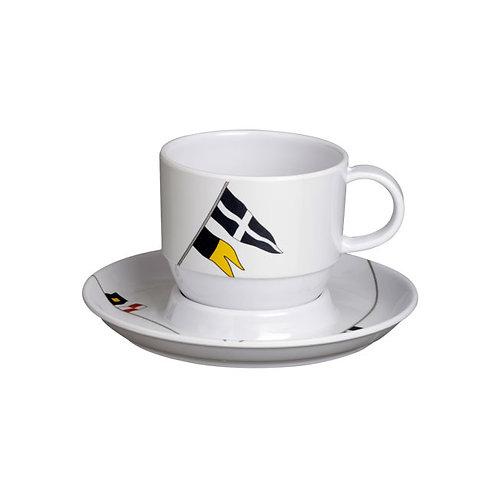 Regata Tea Cup & Saucer Set/ 6