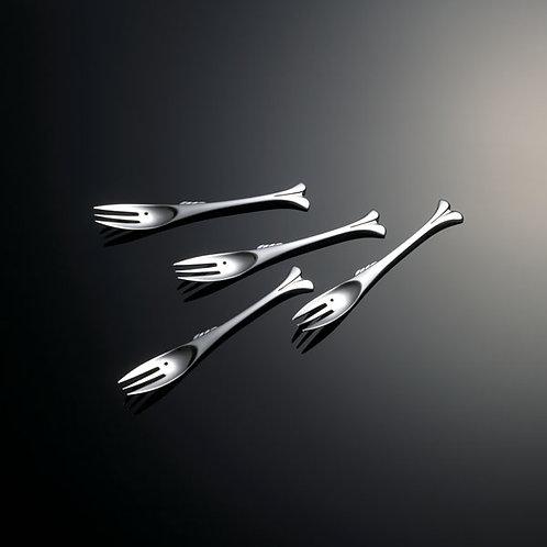 Gone Fishin Appetizer Fork, Set of 4, Gift Boxed