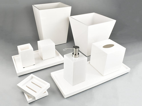 White Lacquer Bath Collection