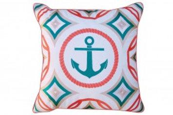 Modern Anchor Pillow - Outdoor Sunbrella