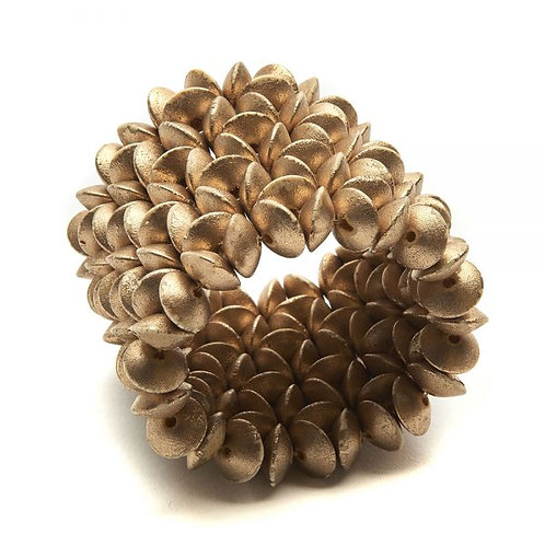 Floral Wood Cuff Napkin Ring