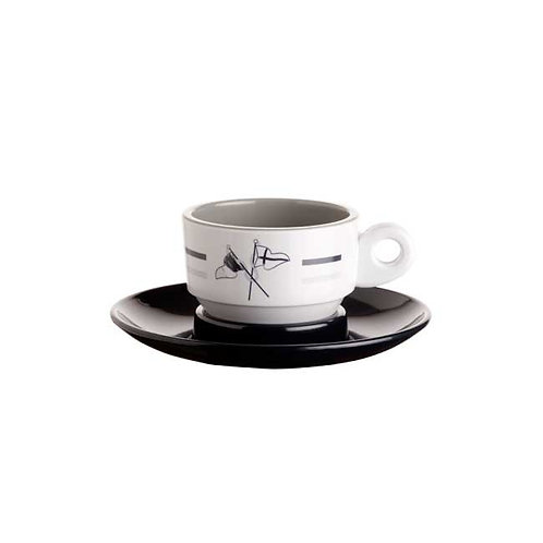 Welcome On Board Espresso Cup & Saucer Set/6