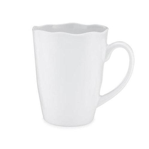 Ruffle White Melamine Mug