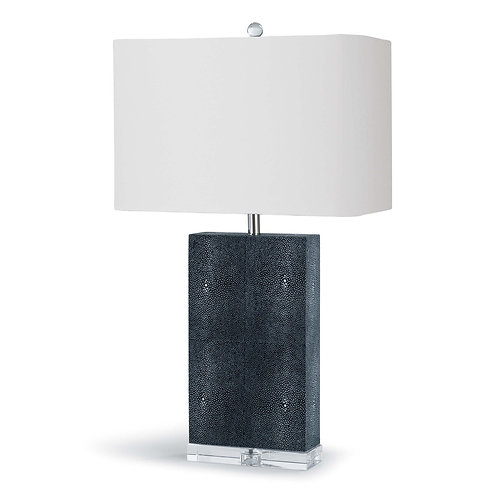 Marcel Charcoal Shagreen Table Lamp