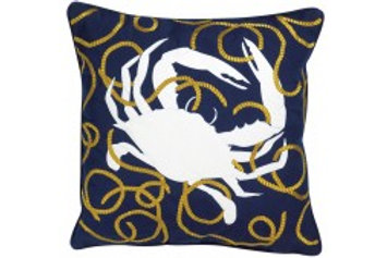 Crab with Rope Pillow - Outdoor Sunbrella