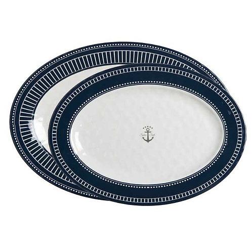 2PC Set Sailor Soul Oval Platters