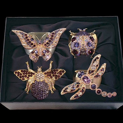 Amethyst Bug Mix Sets of 4