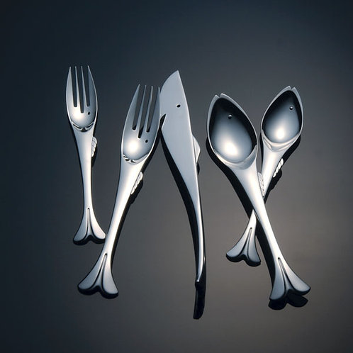 5pc Gone Fishing Stainless Flatware