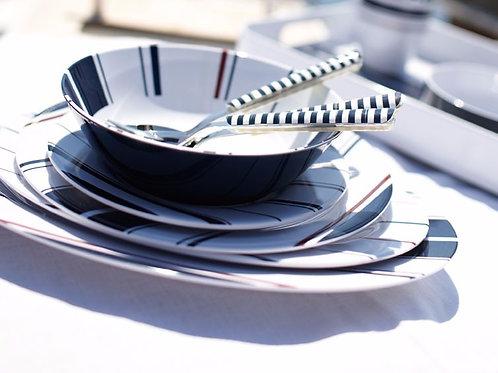 24 pc Monaco Melamine Dinnerware
