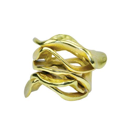 FLUX NAPKIN RING IN GOLD