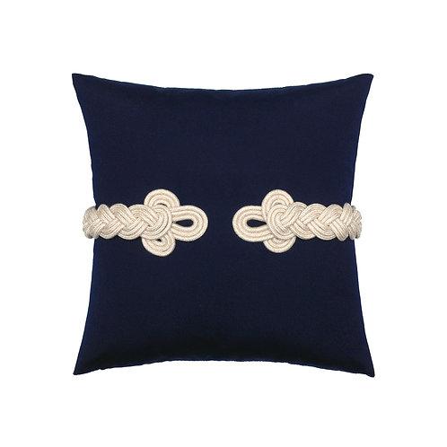 Cobalt Frog's Clasp 20x20 pillow