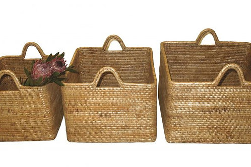Nested Basket with Hoop Handles 19x16x12