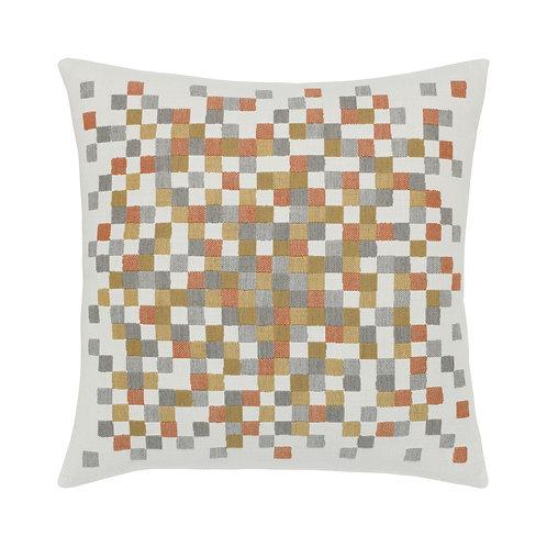 Metallic Check 22x22 Pillow