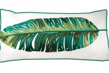 Banana Leaf Pillow - Outdoor Sunbrella