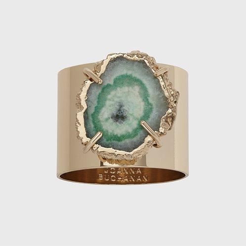 Crystal Quartz Napkin Rings set/2