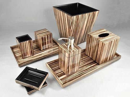 Zebra Wood Bath Collection