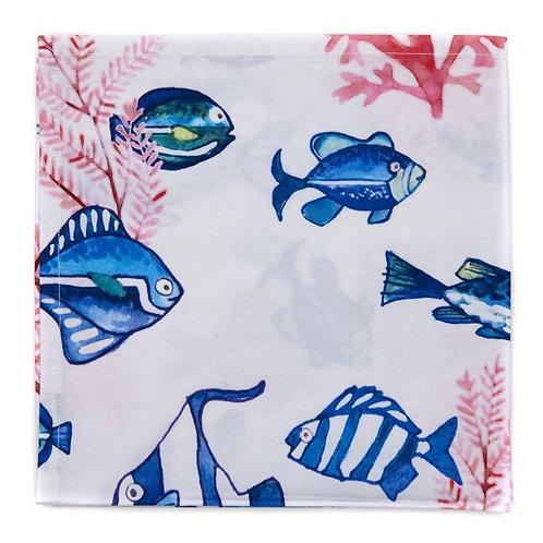 Printed Cotton Fish Napkin