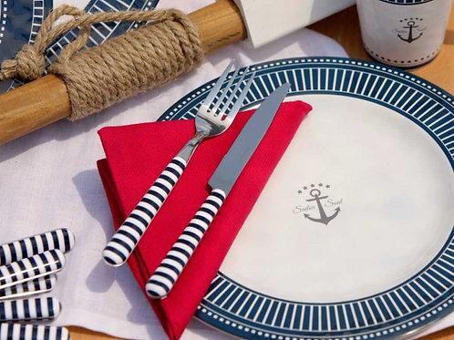 24PC Sailor Saul Dinnerware set