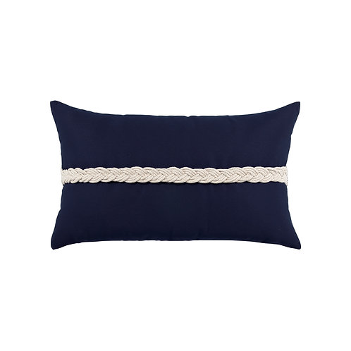 Navy Braided 12x20 Lumbar