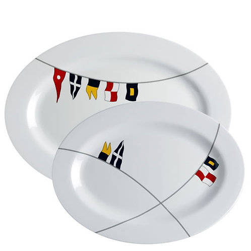 2pc Regata Oval Serving Platters