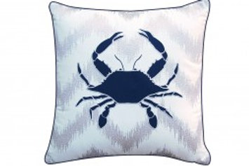 Crab Ikat Pillow - Outdoor Sunbrella