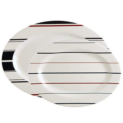 2pc Monaco Serving Platters