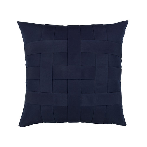 Basketweave Navy 20x20 Pillow