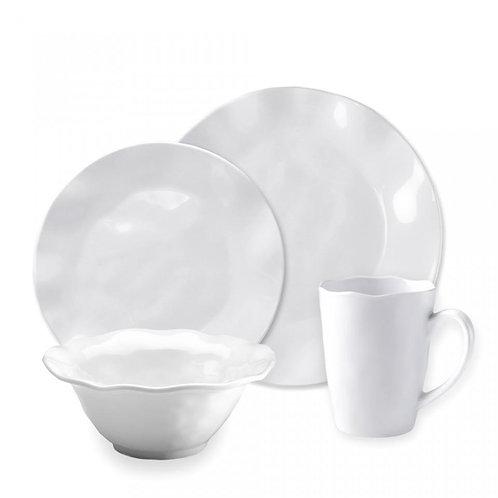 12 pc Ruffle Melamine Dinnerware