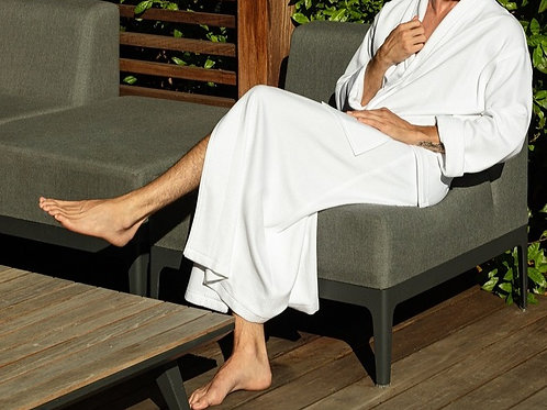 Shawl Knit Diamond Bathrobe-One size