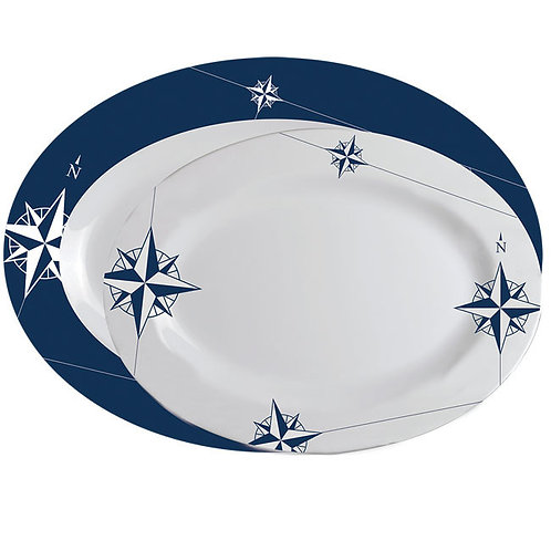 2PC Northwind Oval Platters