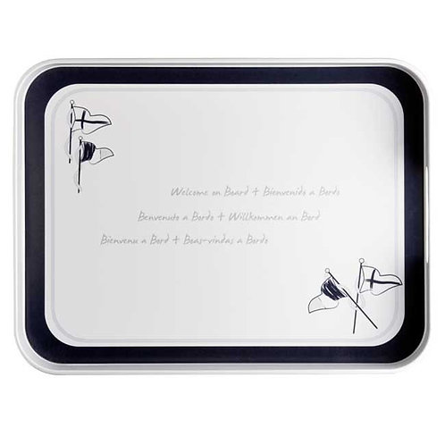 Welcome On Board Rectangular Serving Tray