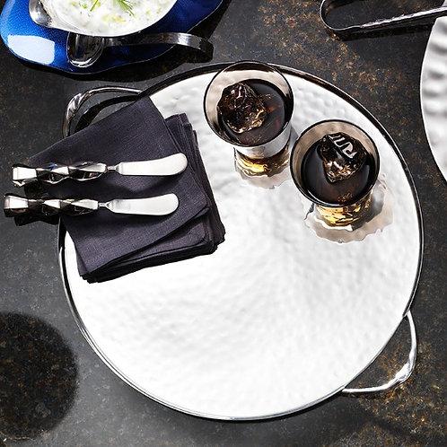 Round Serve Tray w/ Twist Handles