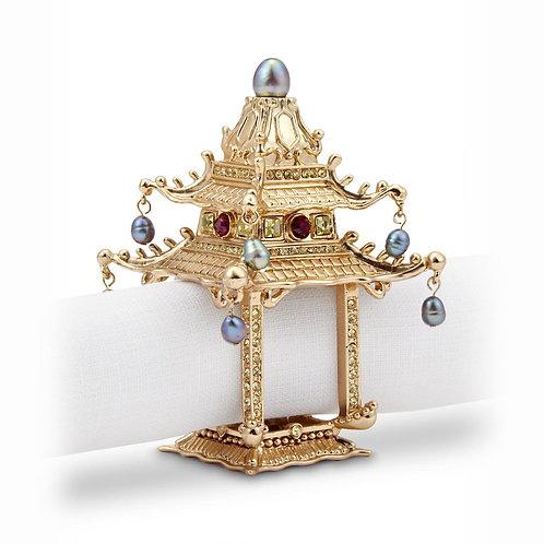 Pagoda Napkin Jewels (Set of 2)