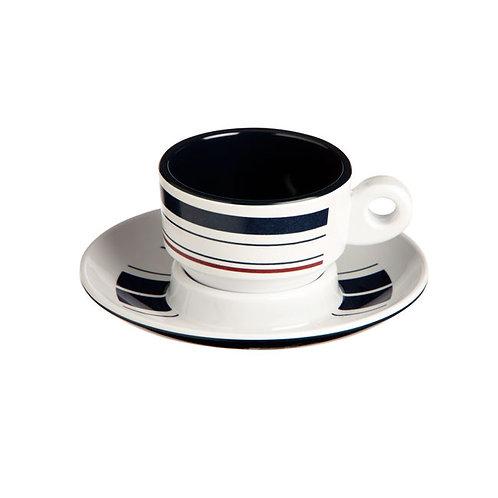 Monaco Espresso Cup & Saucer set for 6