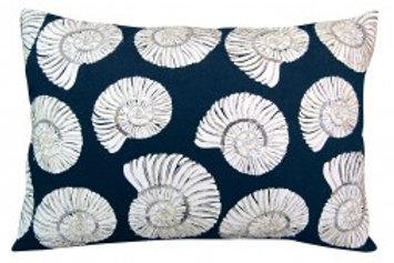 Beaded Nautilus Shell Lumbar Pillow - Indoor Cotton