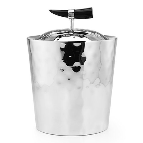 "Orion Buffalo Horn Ice Bucket - Double Walled 9"" x 7"""