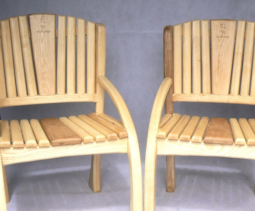 ash and oak chairs