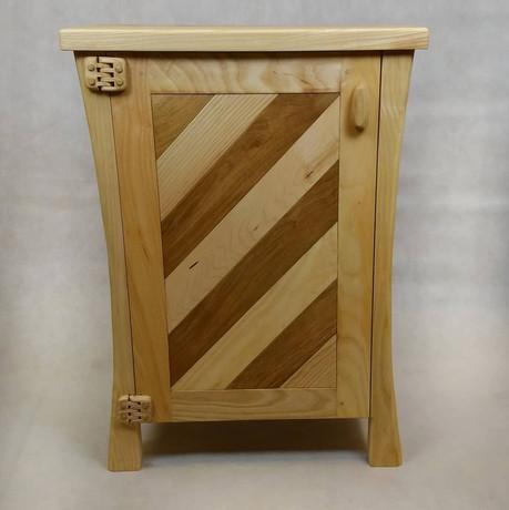 ash framed cabinet.