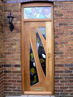 front door (glass by Janet Rogers)
