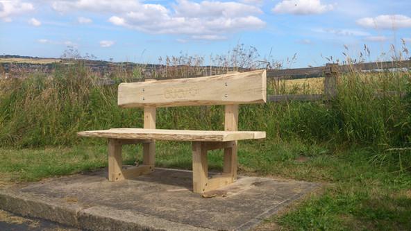 green oak bench