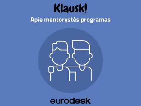 Klausk! Apie mentorystės programas