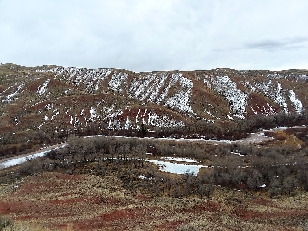 Hills near small remote town of Dubois, Wyoming