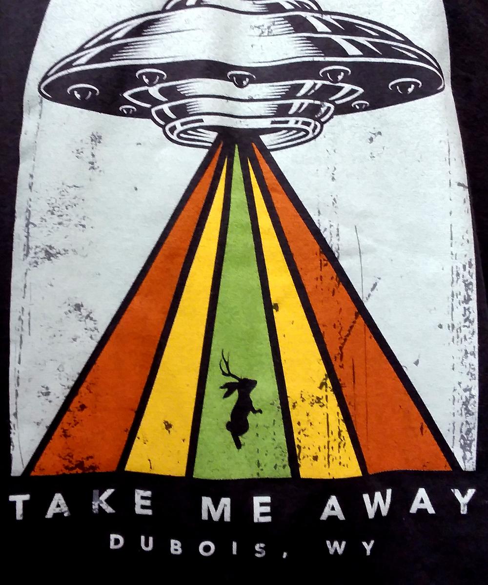 Jackalope t-shirt from Jackalope Exhibit in Dubois, Wyoming