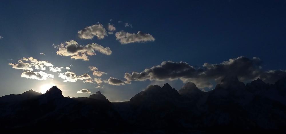 Sunset over Teton Range in Jackson Hole, Wyoming
