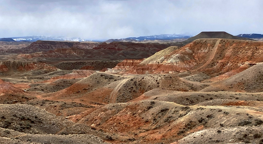 Badlands in small remote town of Dubois, Wyoming