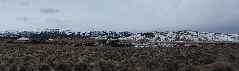 Mountains near Dubois, Wyoming