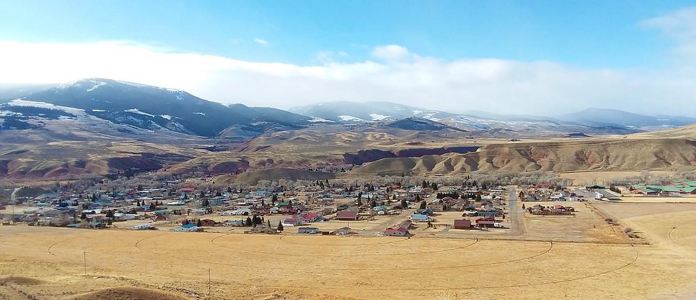 Small remote mountain town of Dubois, Wyoming