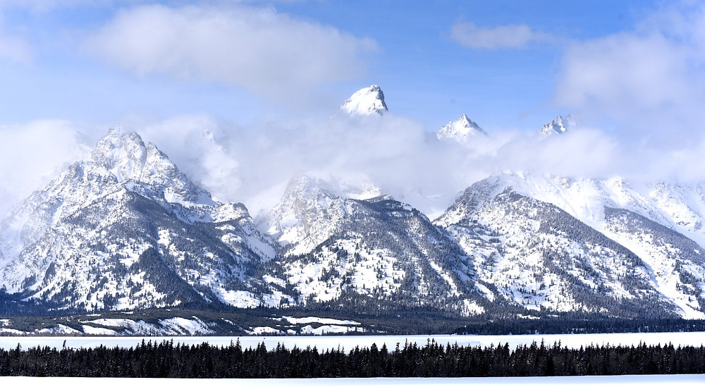Teton Range in Jackson Hole, Wyoming
