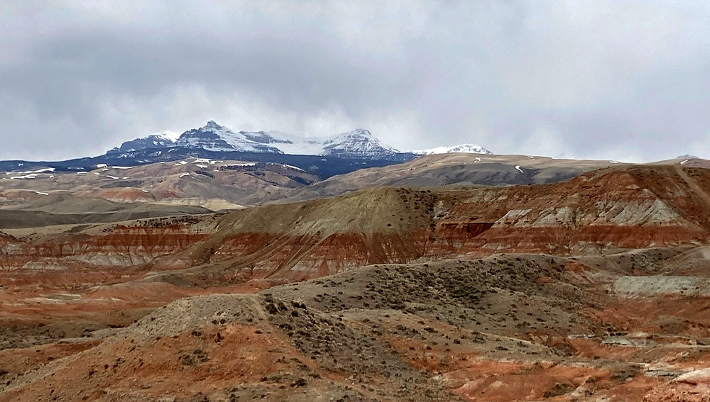 Ramshorn Peak and badlands in small remote town of Dubois, Wyoming